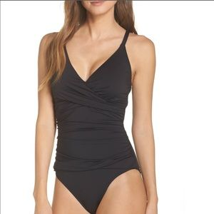 Tommy Bahamas Pearl 1 piece Black Bathing suite